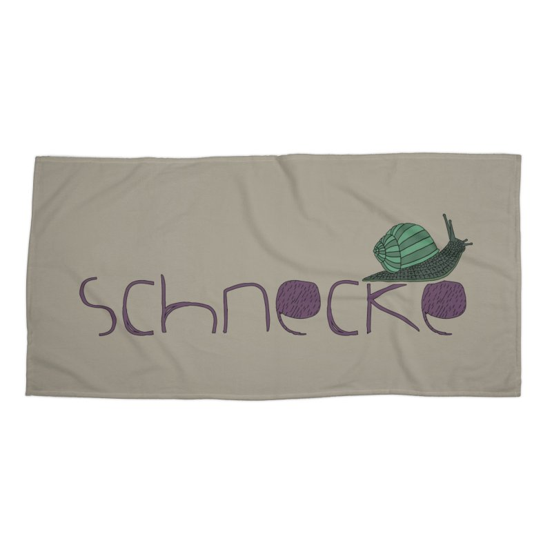 Kulti - Schnecke Design 2 Accessories Beach Towel by M A R I A N A    Z A P A T A