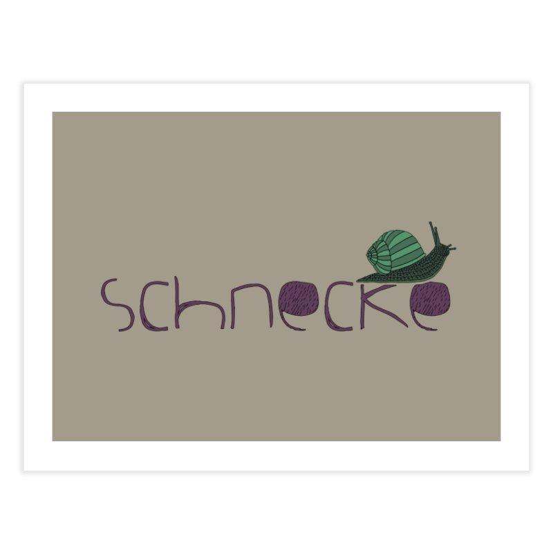 Kulti - Schnecke Design 2 Home Fine Art Print by M A R I A N A    Z A P A T A