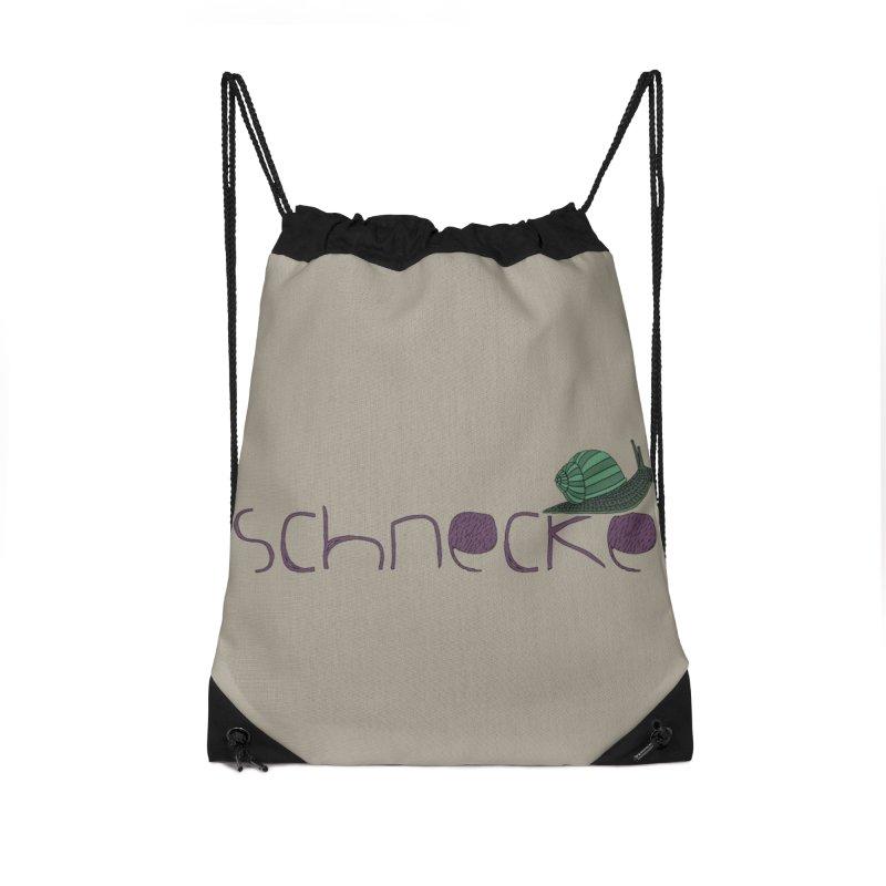 Kulti - Schnecke Design 2 Accessories Drawstring Bag Bag by M A R I A N A    Z A P A T A
