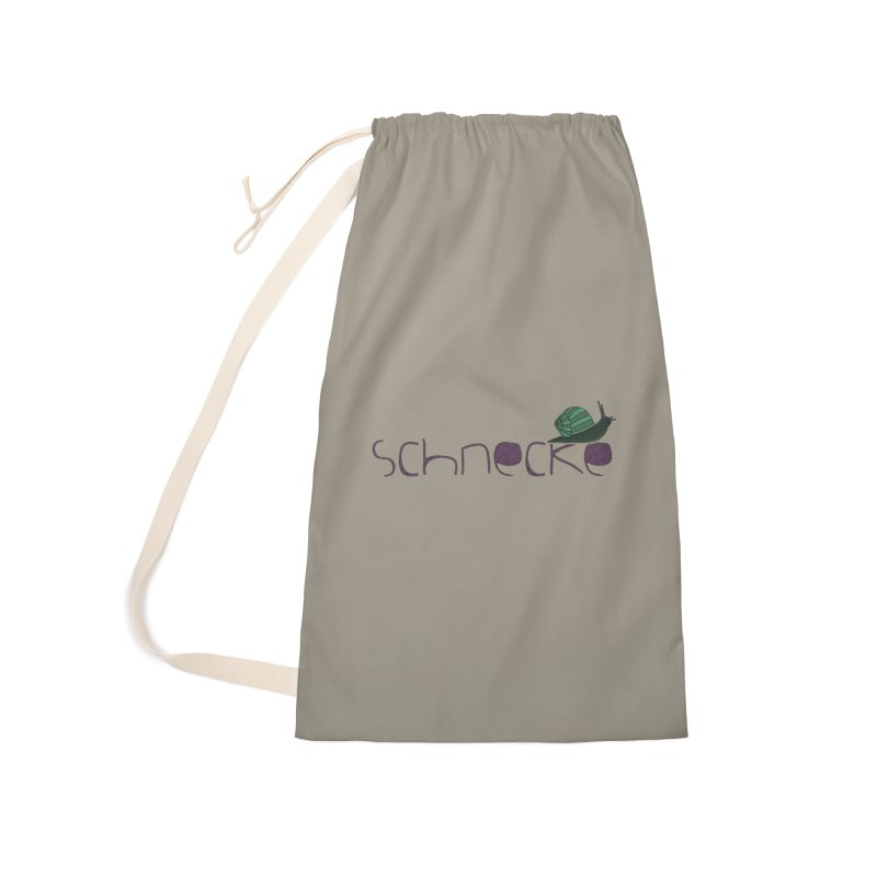 Kulti - Schnecke Design 2 Accessories Laundry Bag Bag by M A R I A N A    Z A P A T A