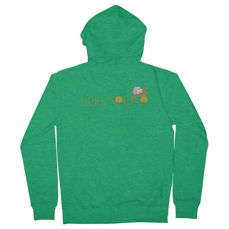 Kulti - Schnecke Design 3 Men's Zip-Up Hoody by M A R I A N A    Z A P A T A