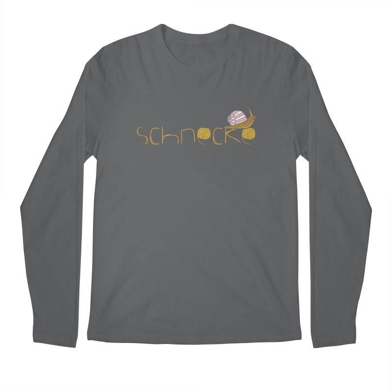 Kulti - Schnecke Design 3 Men's Regular Longsleeve T-Shirt by M A R I A N A    Z A P A T A