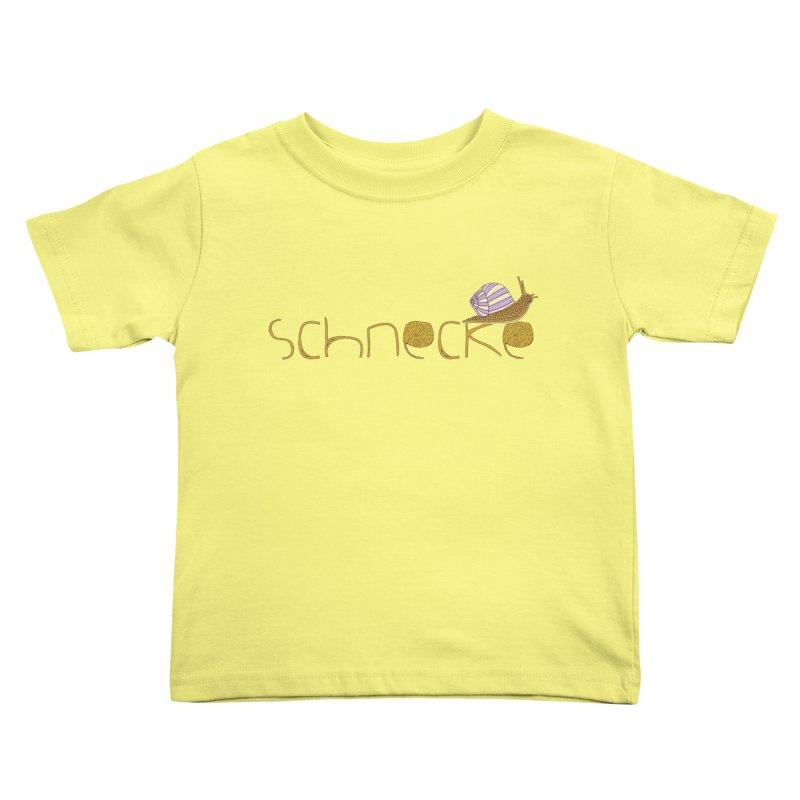 Kulti - Schnecke Design 3 Kids Toddler T-Shirt by M A R I A N A    Z A P A T A