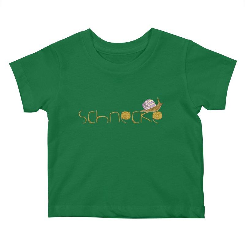 Kulti - Schnecke Design 3 Kids Baby T-Shirt by M A R I A N A    Z A P A T A