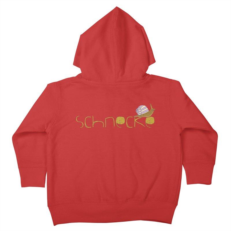 Kulti - Schnecke Design 3 Kids Toddler Zip-Up Hoody by M A R I A N A    Z A P A T A