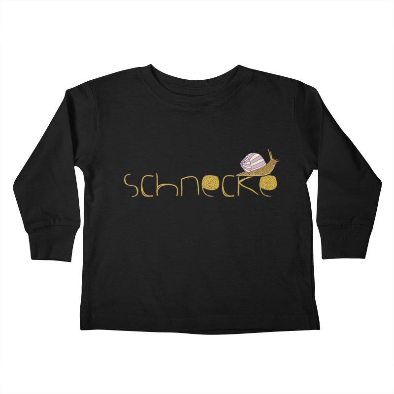 Kulti - Schnecke Design 3 Kids Toddler Longsleeve T-Shirt by M A R I A N A    Z A P A T A