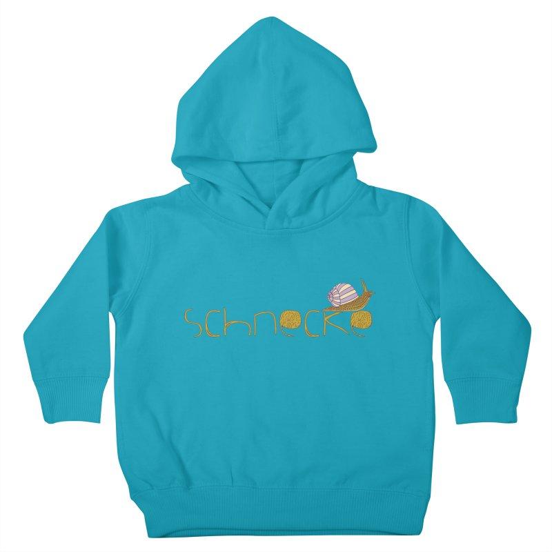 Kulti - Schnecke Design 3 Kids Toddler Pullover Hoody by M A R I A N A    Z A P A T A