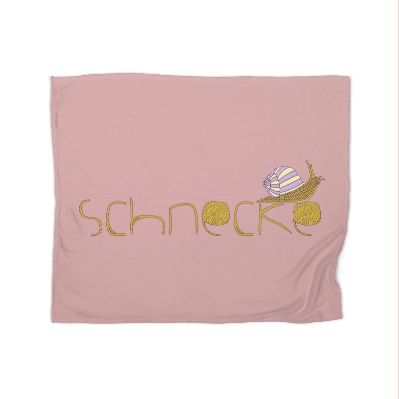 Kulti - Schnecke Design 3 Home Fleece Blanket Blanket by M A R I A N A    Z A P A T A