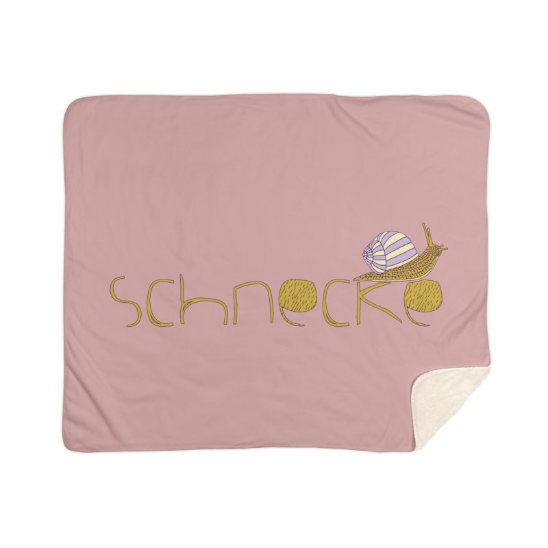 Kulti - Schnecke Design 3 Home Sherpa Blanket Blanket by M A R I A N A    Z A P A T A