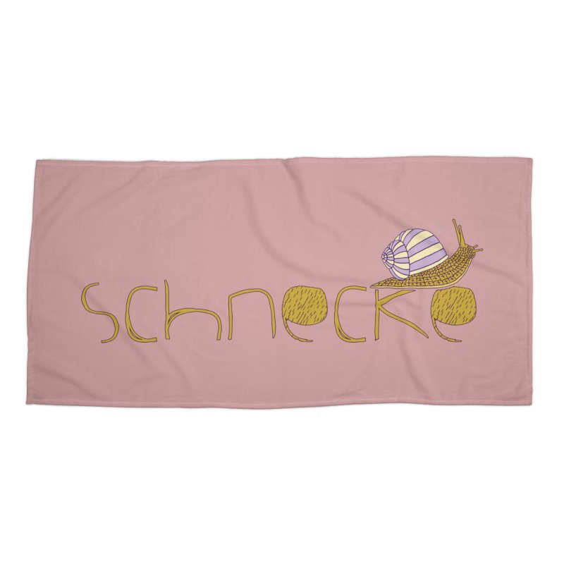 Kulti - Schnecke Design 3 Accessories Beach Towel by M A R I A N A    Z A P A T A