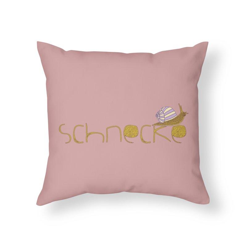 Kulti - Schnecke Design 3 Home Throw Pillow by M A R I A N A    Z A P A T A