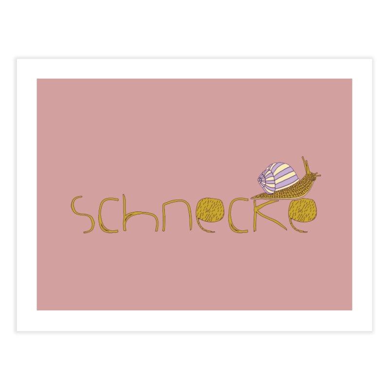 Kulti - Schnecke Design 3 Home Fine Art Print by M A R I A N A    Z A P A T A