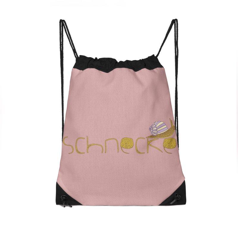 Kulti - Schnecke Design 3 Accessories Drawstring Bag Bag by M A R I A N A    Z A P A T A