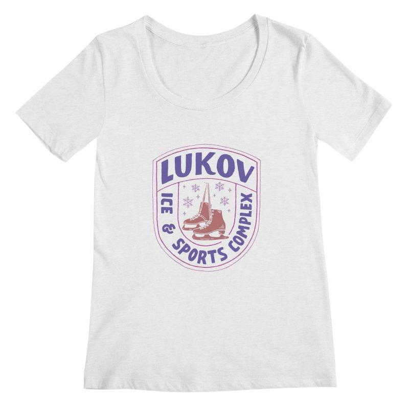 Lukov - Design 1 Women's Scoop Neck by M A R I A N A    Z A P A T A
