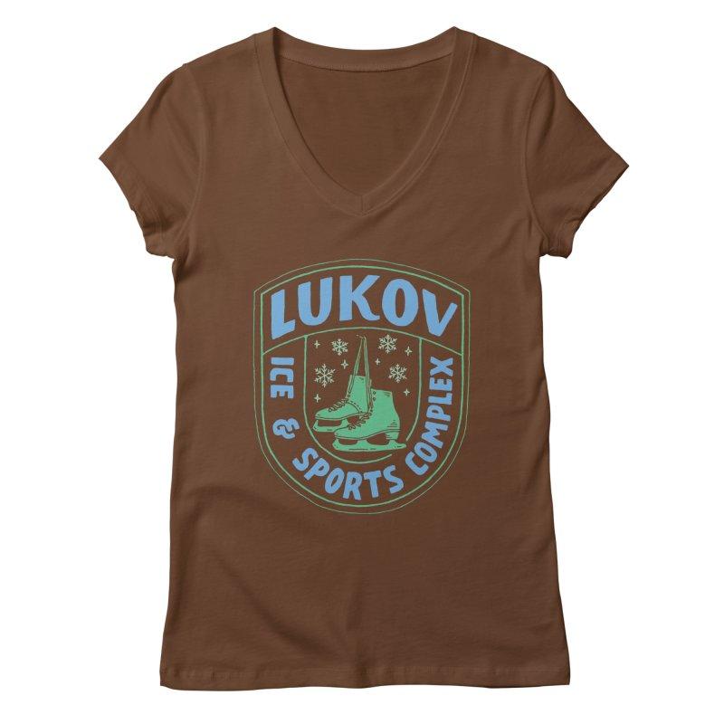 Lukov - Design 2 Women's Regular V-Neck by M A R I A N A    Z A P A T A