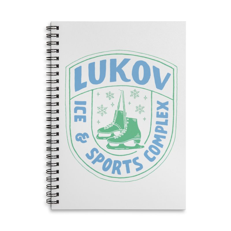 Lukov - Design 2 Accessories Lined Spiral Notebook by M A R I A N A    Z A P A T A