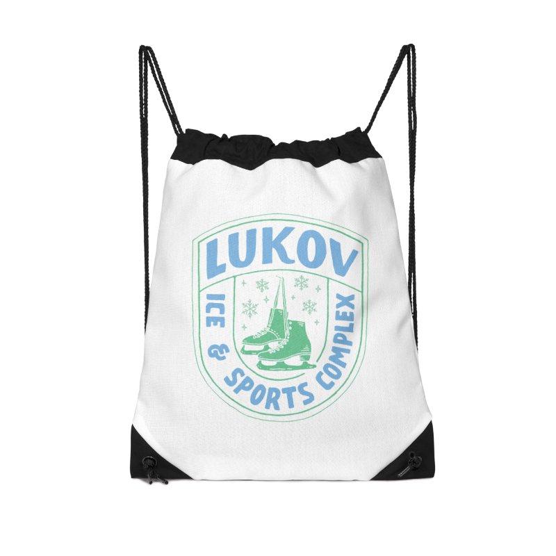 Lukov - Design 2 Accessories Drawstring Bag Bag by M A R I A N A    Z A P A T A