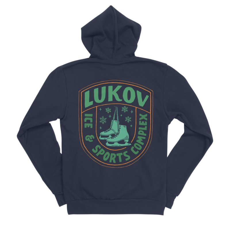 Lukov - Design 3 Men's Sponge Fleece Zip-Up Hoody by M A R I A N A    Z A P A T A