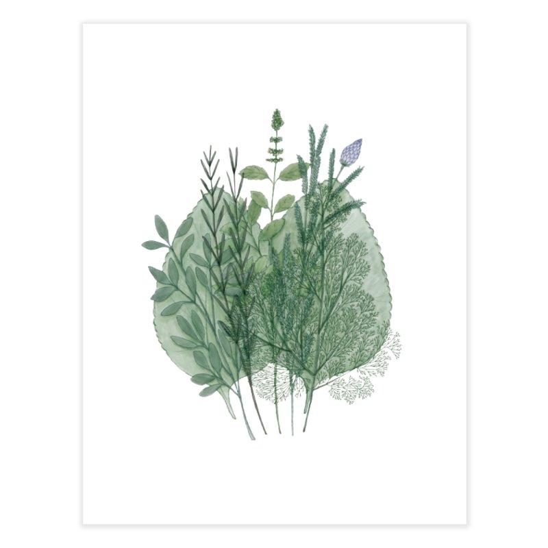 Herbs Home Fine Art Print by Maria Paula