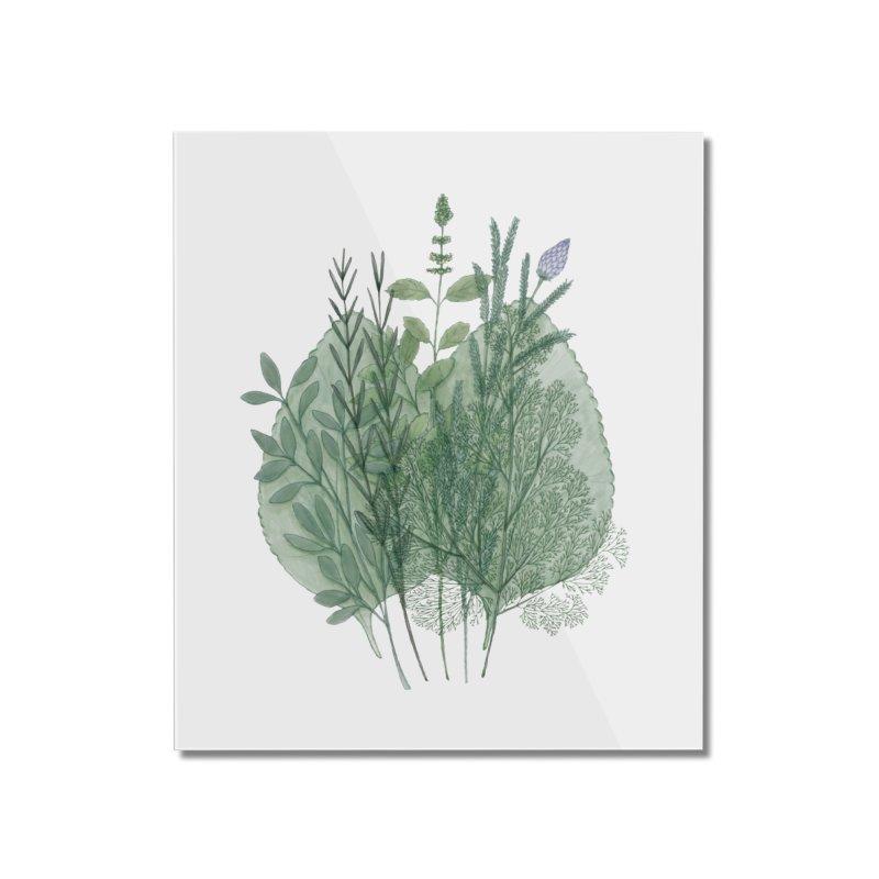 Herbs Home Mounted Acrylic Print by Maria Paula