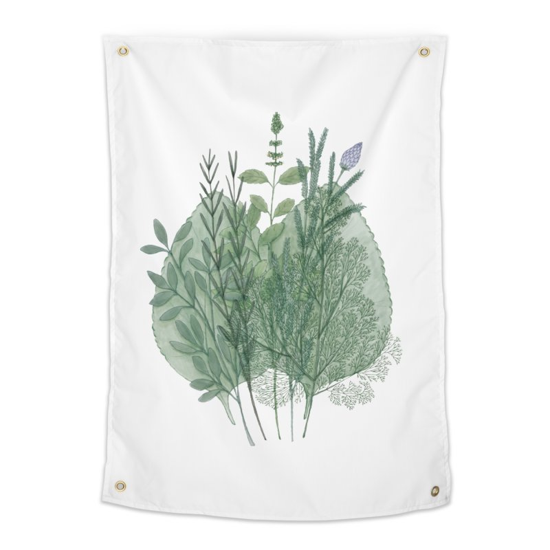 Herbs Home Tapestry by Maria Paula