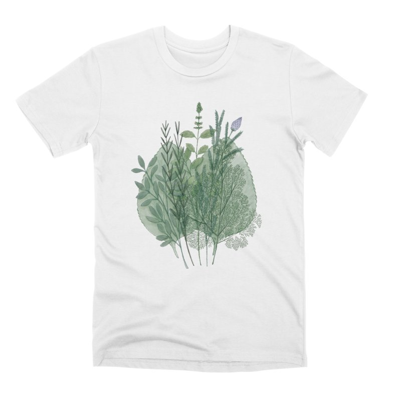 Herbs Men's T-Shirt by Maria Paula