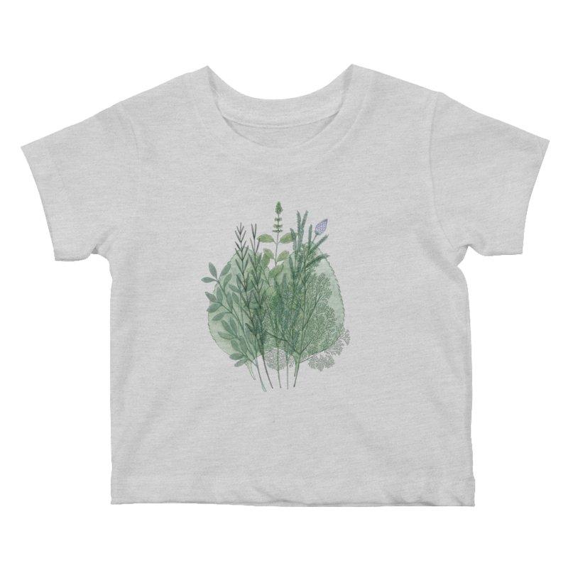 Herbs Kids Baby T-Shirt by Maria Paula