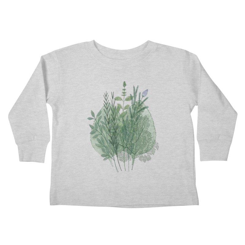 Herbs Kids Toddler Longsleeve T-Shirt by Maria Paula