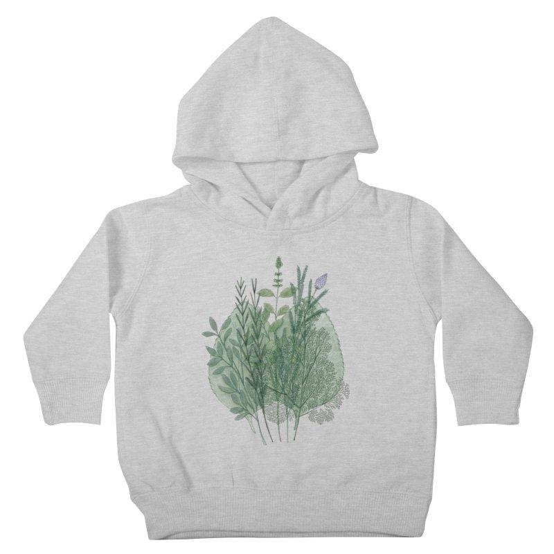Herbs Kids Toddler Pullover Hoody by Maria Paula