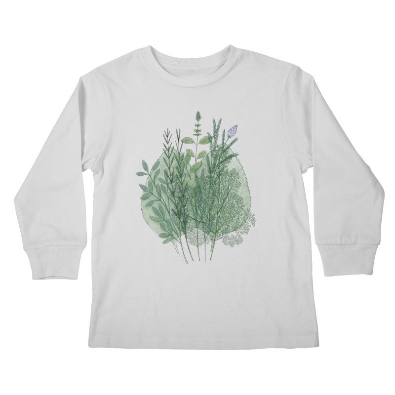 Herbs Kids Longsleeve T-Shirt by Maria Paula