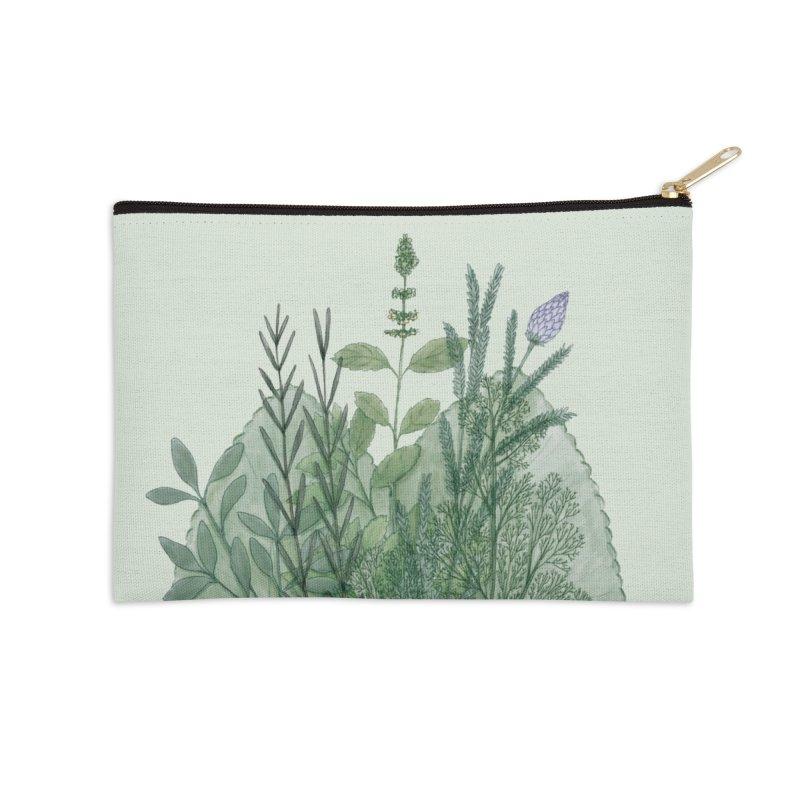 Herbs Accessories Zip Pouch by Maria Paula
