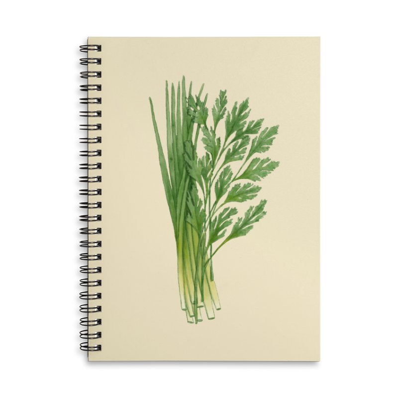 Green Scent Accessories Notebook by Maria Paula