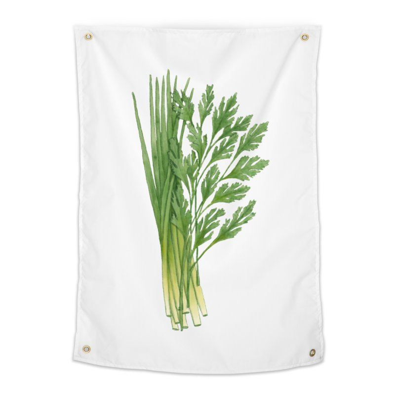 Green Scent Home Tapestry by Maria Paula