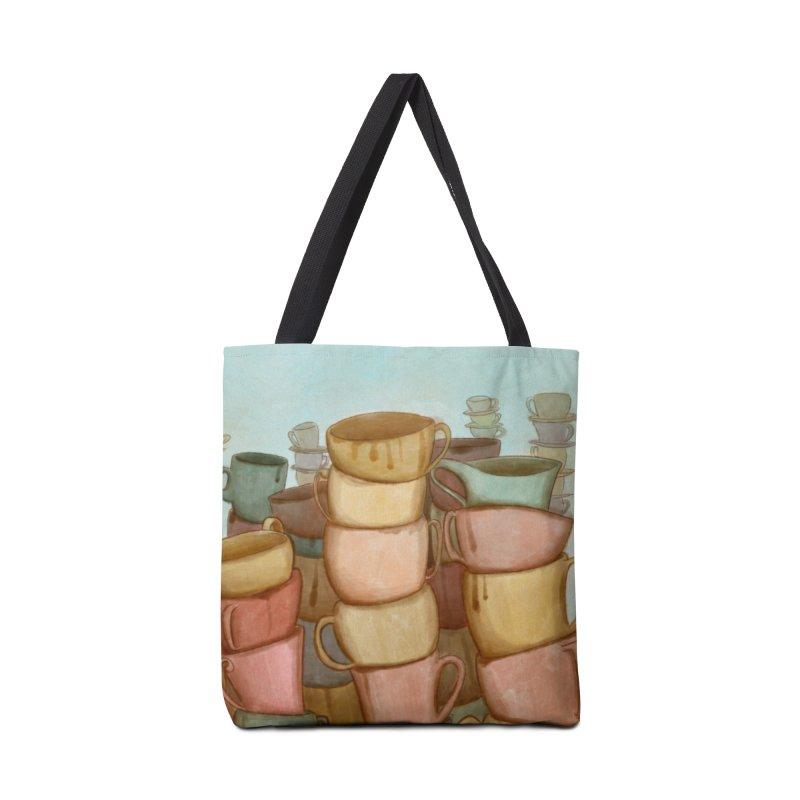Coffee skyline Accessories Bag by Maria Paula