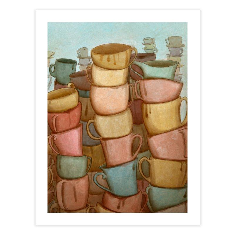 Coffee skyline Home Fine Art Print by Maria Paula
