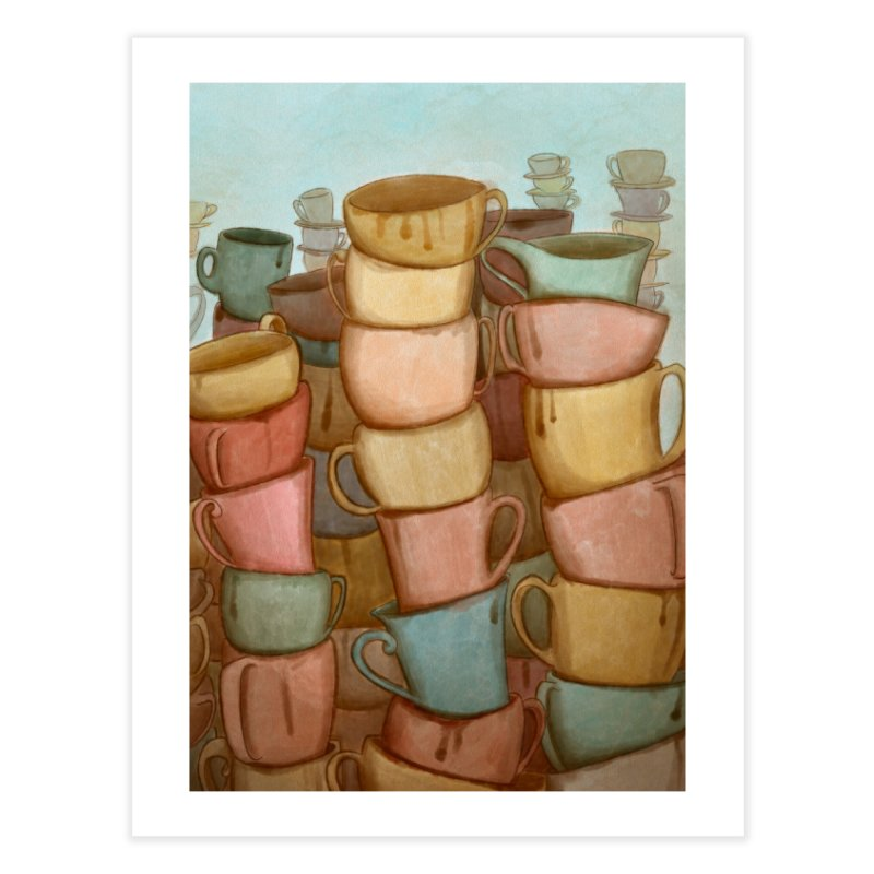 Coffee skyline Home Fine Art Print by Maria Paula