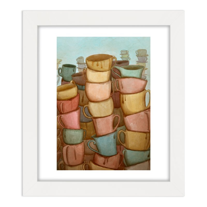 Coffee skyline Home Framed Fine Art Print by Maria Paula