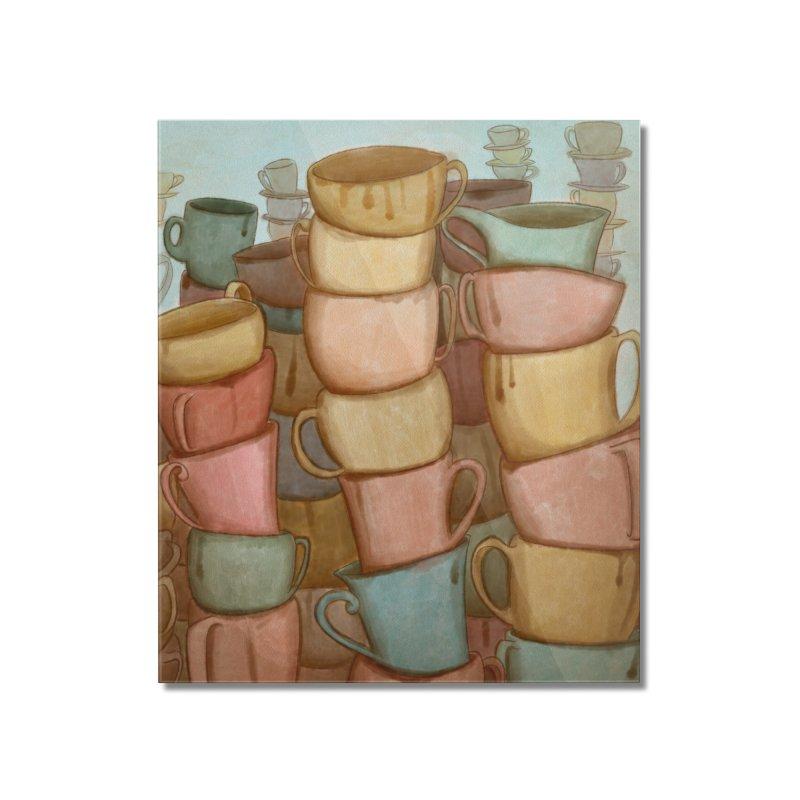 Coffee skyline Home Mounted Acrylic Print by Maria Paula