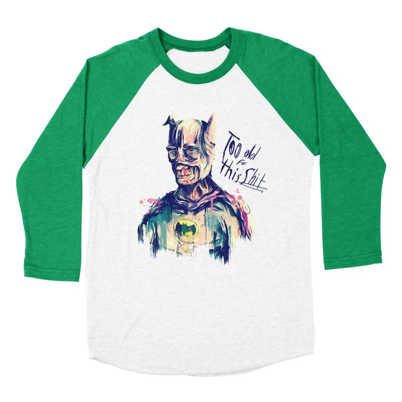 Too old Women's Baseball Triblend Longsleeve T-Shirt by MB's Tees