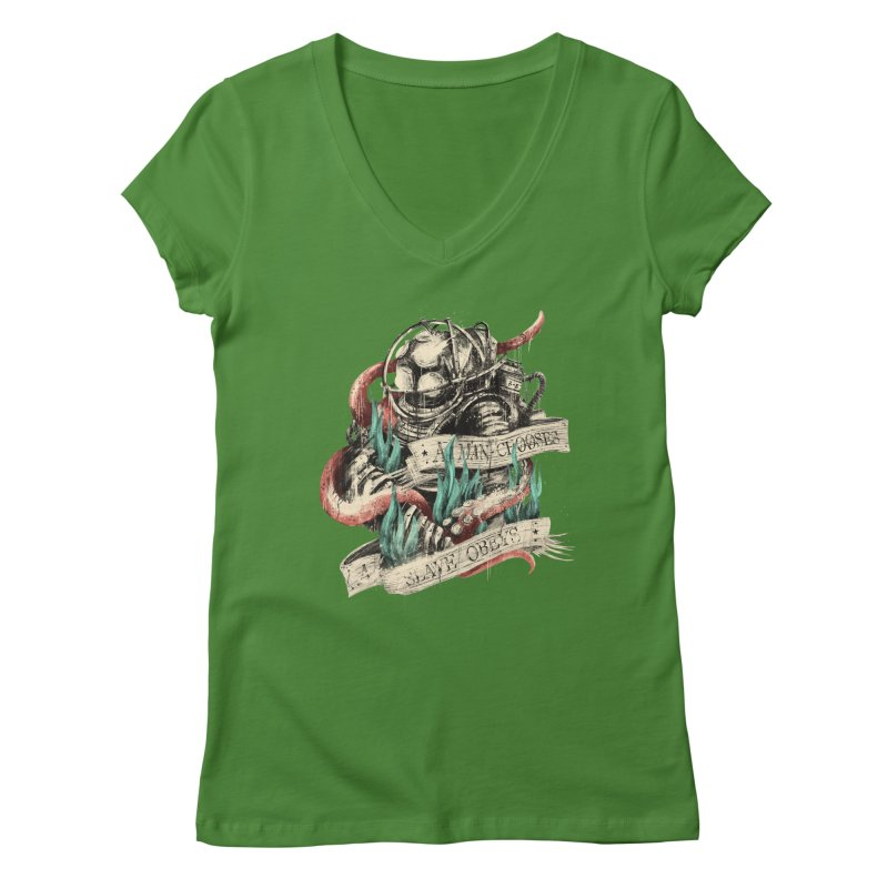 Bioshock Women's Regular V-Neck by MB's Tees