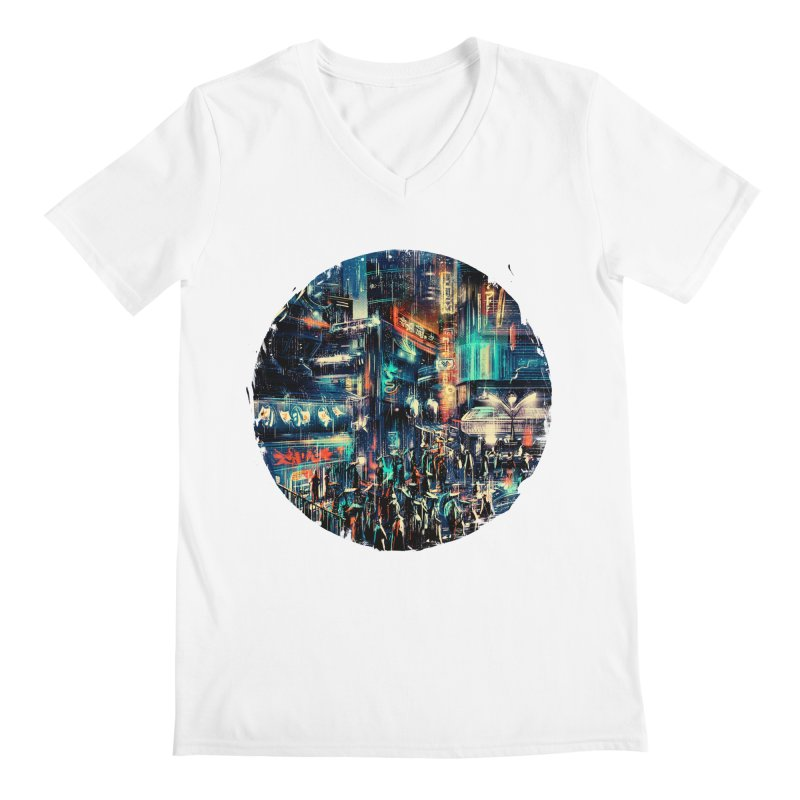 Chinatown Men's V-Neck by MB's Tees