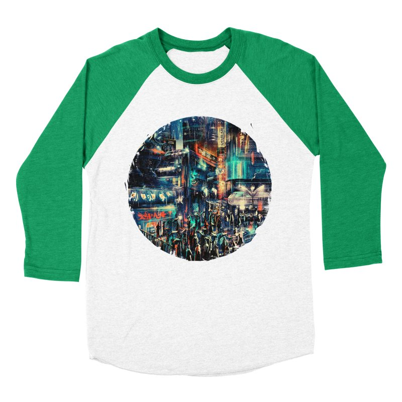 Chinatown Women's Baseball Triblend Longsleeve T-Shirt by MB's Collection