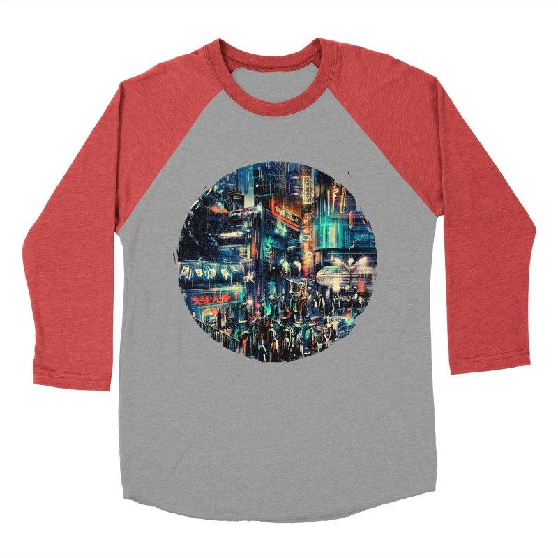 Chinatown Women's Baseball Triblend Longsleeve T-Shirt by MB's Tees