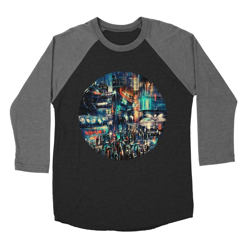 Chinatown Men's Baseball Triblend Longsleeve T-Shirt by MB's Tees