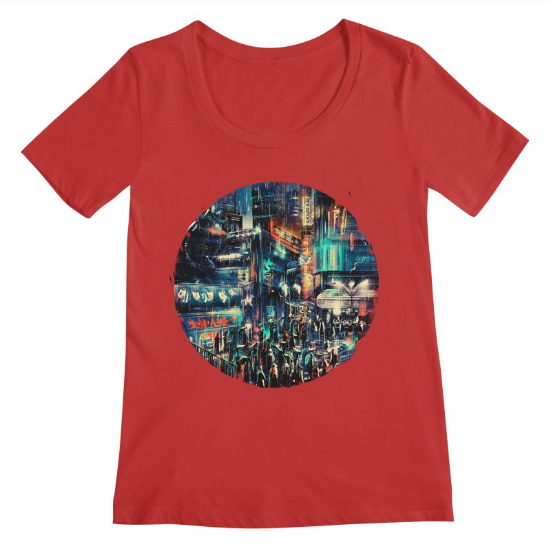 Chinatown Women's Regular Scoop Neck by MB's Collection