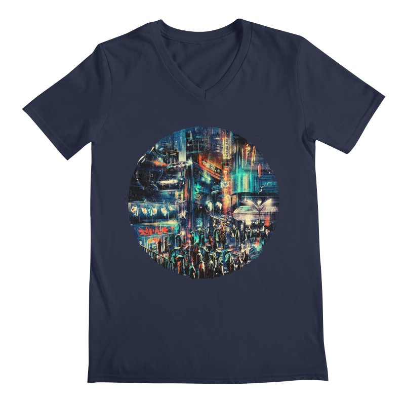 Chinatown Men's Regular V-Neck by MB's Tees