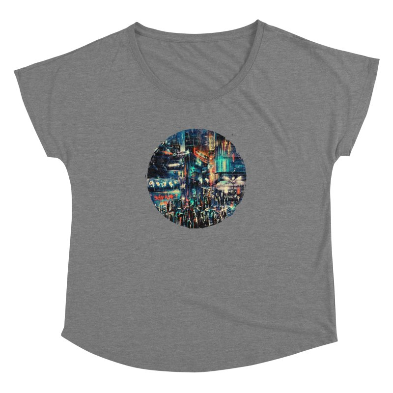 Chinatown Women's Dolman Scoop Neck by MB's Tees