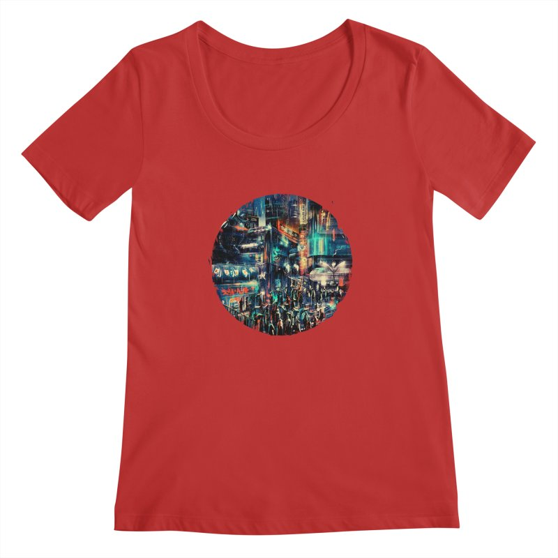 Chinatown Women's Regular Scoop Neck by MB's Tees