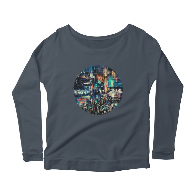 Chinatown Women's Scoop Neck Longsleeve T-Shirt by MB's Tees