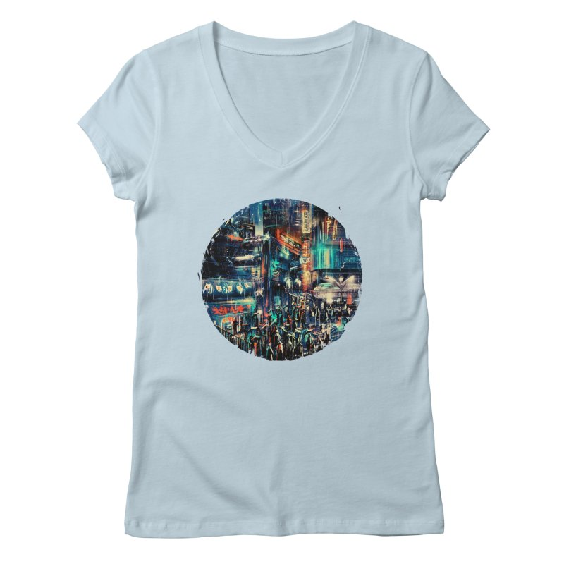 Chinatown Women's Regular V-Neck by MB's Tees
